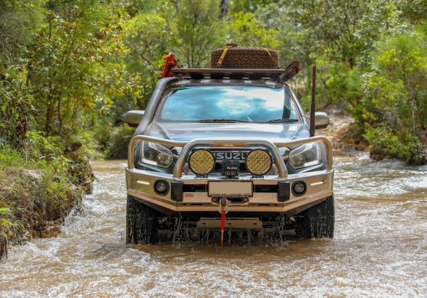 MAX 4x4 accessories Isuzu Dmax Alloy Bull Bar. Quality alloy bull bar. The best bar for your 4WD. With optional fog lights, embossed overriders,, LED indicator lights, rated tow/recovery points.