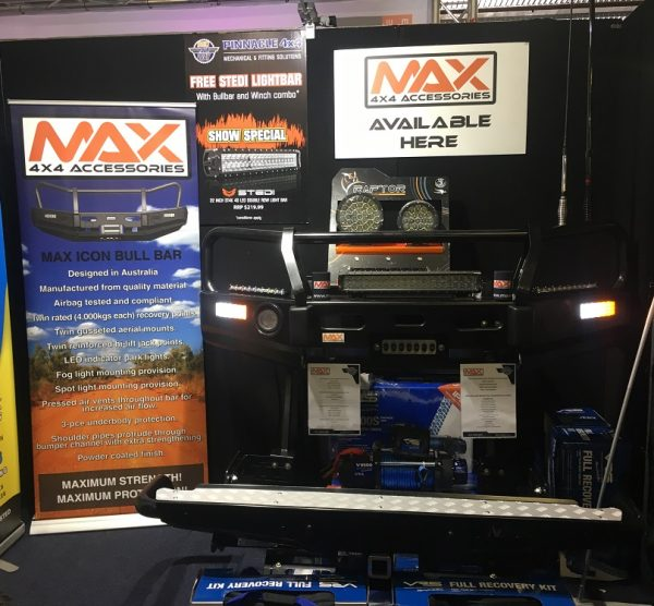 MAX 4WD and 4x4 bull bar steel powder coated. 4WD Show