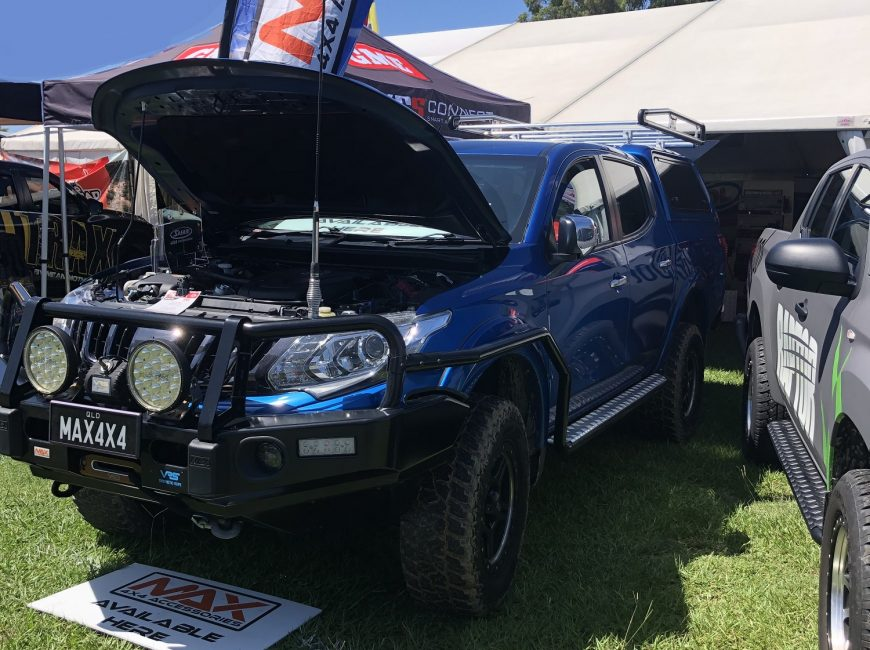 MAX 4x4 accessories Mitsubishi MQ Triton quality steel bull bar. The best bar for your 4WD. With optional fog lights, embossed overriders, rated, LED indicator lights, rated tow/recovery points.